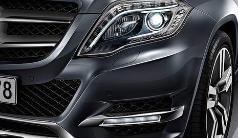 Nuevo diseño de los faros LED del Mercedes GLK 2012