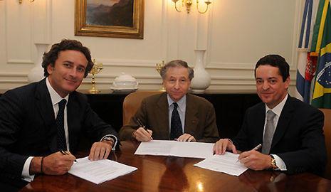 Alejandro Agag, Jean Todt y Enrique Bañuelos