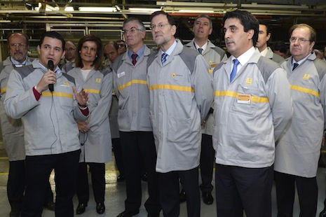 El Presidente del Gobierno visita la factoría de Palencia.