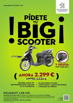 Scooter Peugeot LXR 125