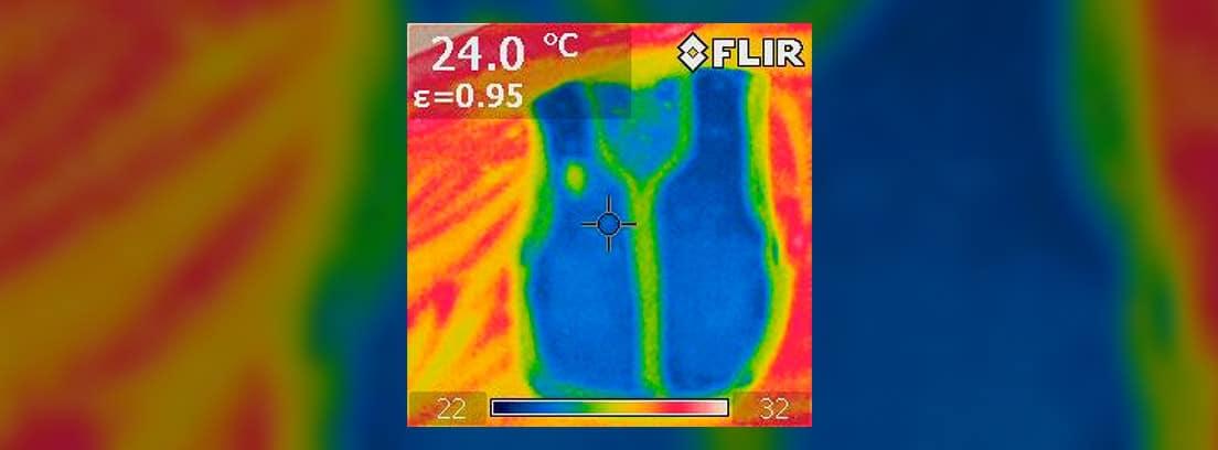 Imagen de temperatura con infrarrojos
