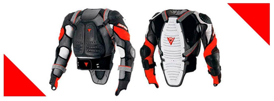 Peto para moto en negro blanco y rojo