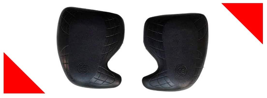 protección cadera negra para moto