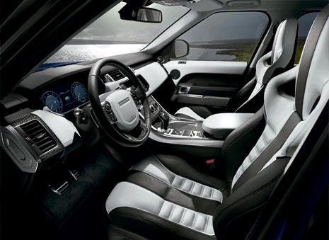 Interior del Range Rover Sport SVR