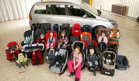 Distintos tipos de silla infantil
