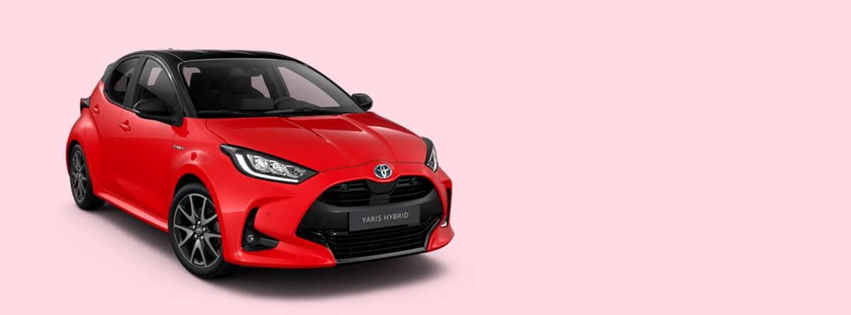 Toyota Yaris Hybrid en rojo