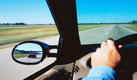 Espejo retrovisor correctamente regulado