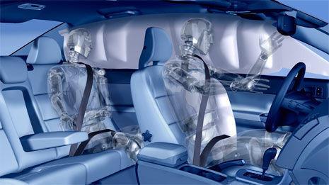 Airbag de cortina en un coche