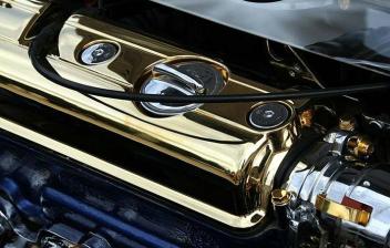 Motor de un coche