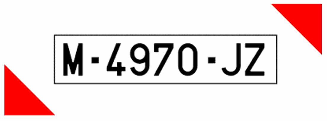 Matrícula provincial alfanumérica