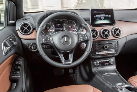 Interior del nuevo Mercedes Clase B