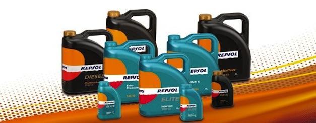 diferentes tipos de garrafas aceite de motor Repsol