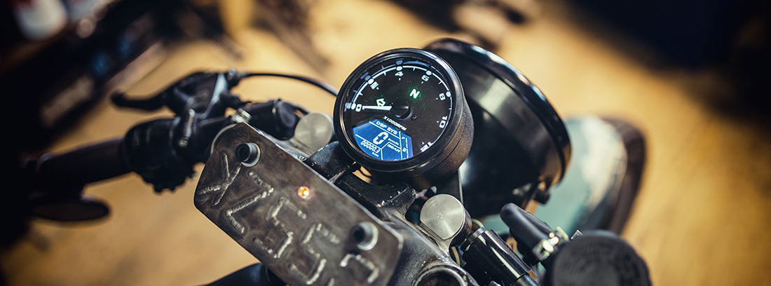 Velocímetro de una moto