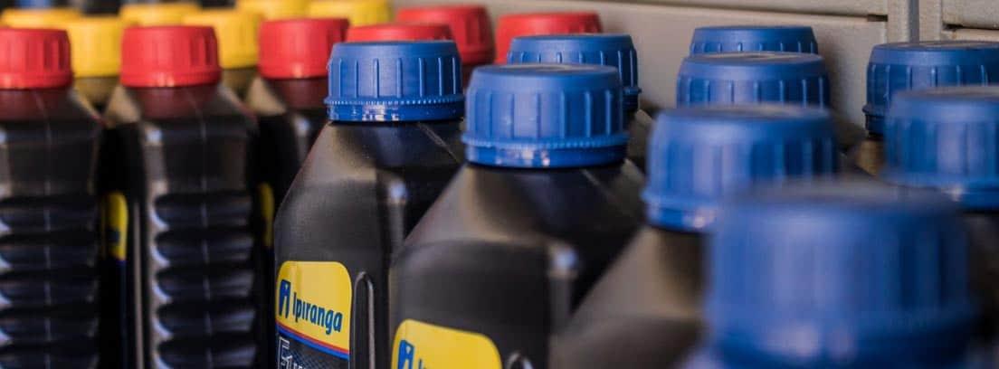 Botellas de aceites de coche