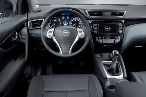 Interior del Nissan Qashqai 2014