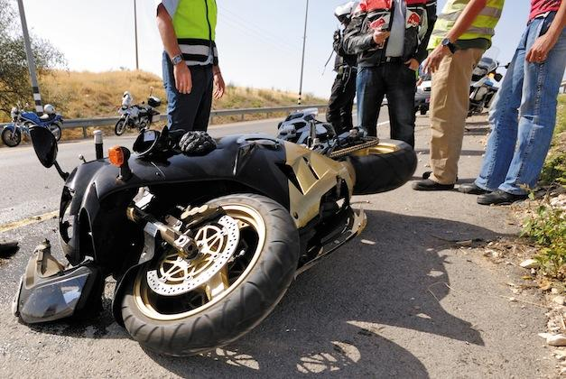 Llamar a emergencias - accidente moto