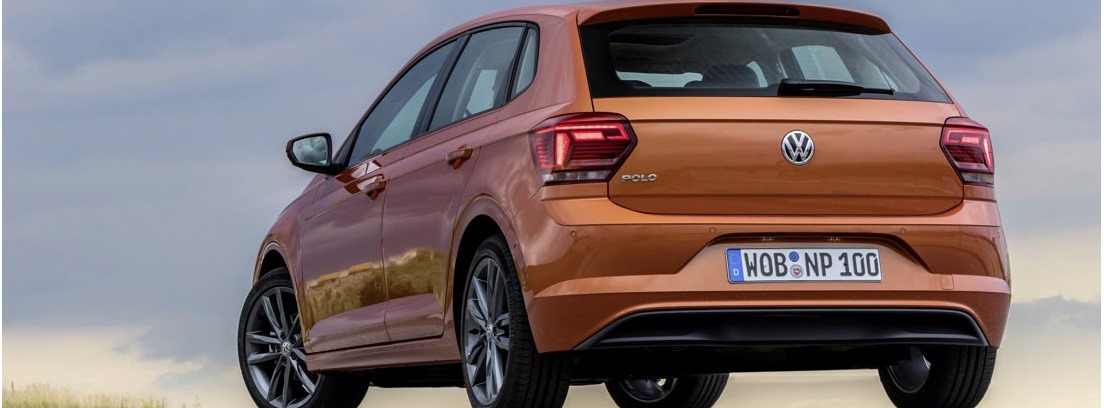 Vista trasera del Volkswagen Polo 2017