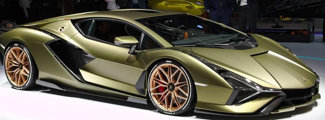 Lamborghini Sián en verde