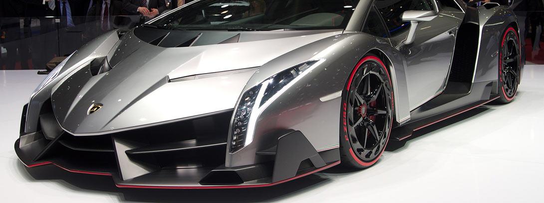 Lamborghini Veneno Roadster en gris