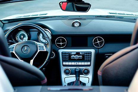Coche autónomo Mercedes interior