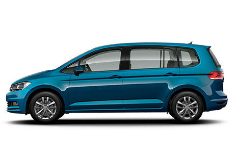 Volkswagen Touran coche familiar azul