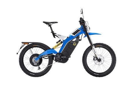 Bultaco Sherpa 350 azul vista de lado