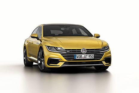 Volkswagen Arteon color dorado visto de frente