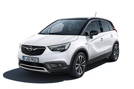 Opel Crossland X monovolumen blanco visto de lado