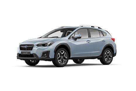 Subaru XV blanco visto de lado