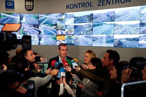 Markel Olano opinando sobre el peaje exclusivo para camiones en Guipúzcoa