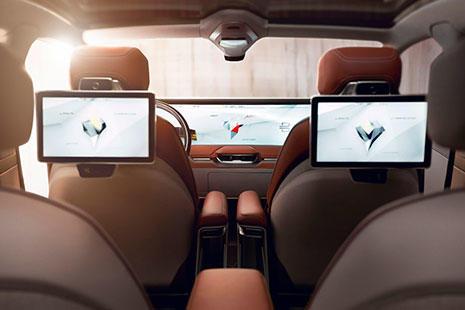 El interior del coche eléctrico de Byton