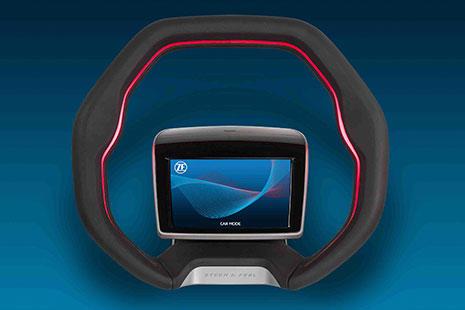 El volante para los coches del futuro de ZF y su pantalla