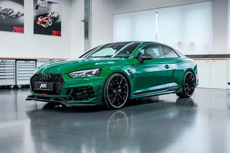 Imagen del ABT Sportsline Audi RS5-R de color verde.