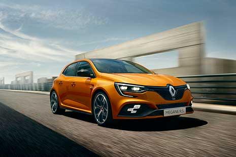 Nuevo Renault Megane R. S. de color naranja