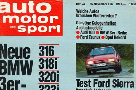 extracto de la revista auto motor und sport del año 1982