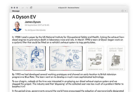 diferentes prototipos de coche eléctrico Dyson