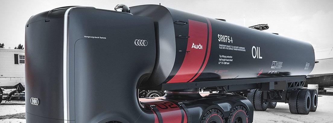 Diseño futurista del camión cisterna de Audi.