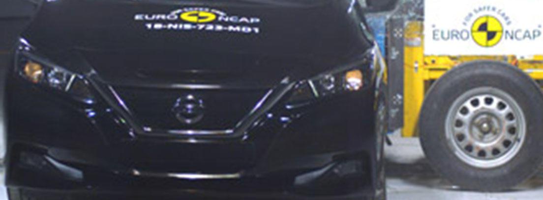 Muestra de las pruebas de seguridad realizadas al Nissan Leaf 2018