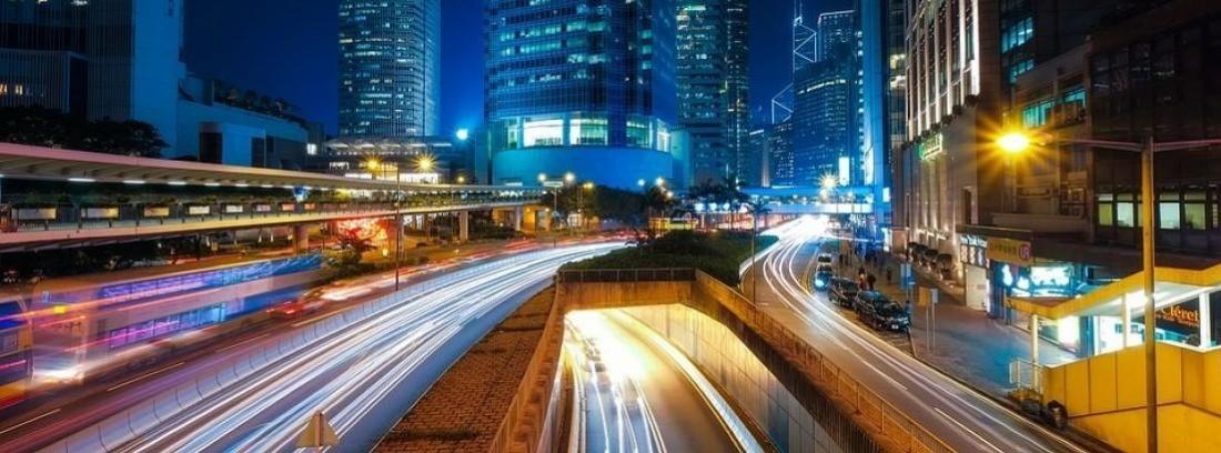 tráfico en una ciudad