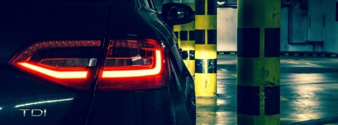 luz trasera de Audi al instalar sensores de aparcamiento