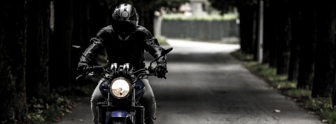 Conduciendo moto