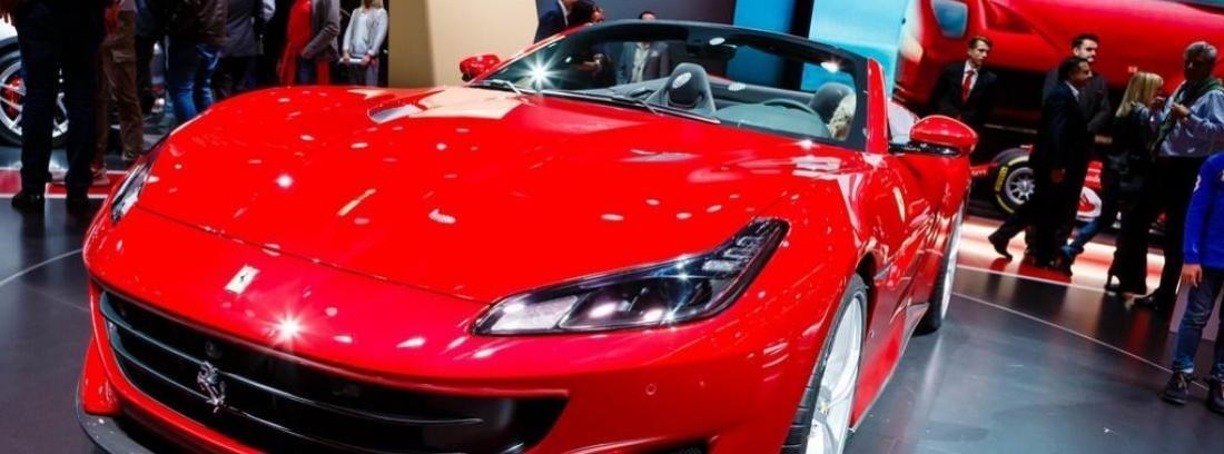 Imagen filtrada del nuevo Ferrari Portofino de color rojo