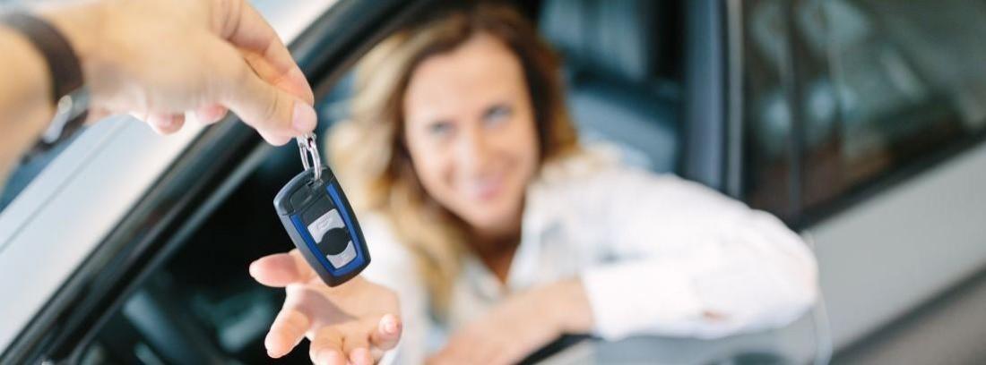 Entrega de llave de coche
