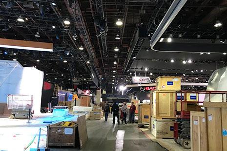 Salón del automóvil de Detroit de 2018 stands