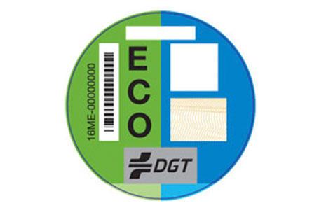 pegatina distintivo medioambiental de la DGT