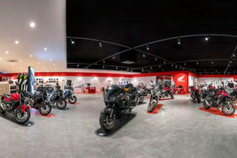 Concesionario de motos Honda con la norma Euro 4