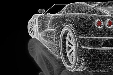 diseño de un coche creado por ordenador