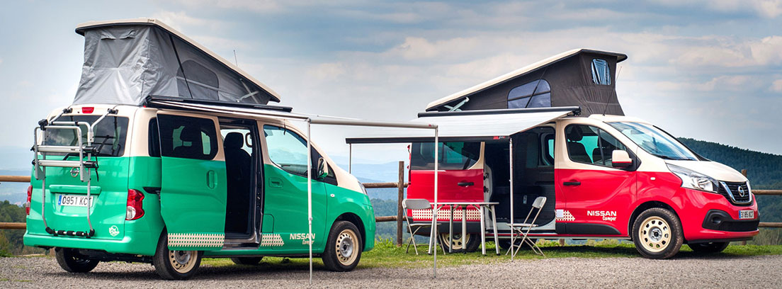 Dos furgonetas camper de Nissan