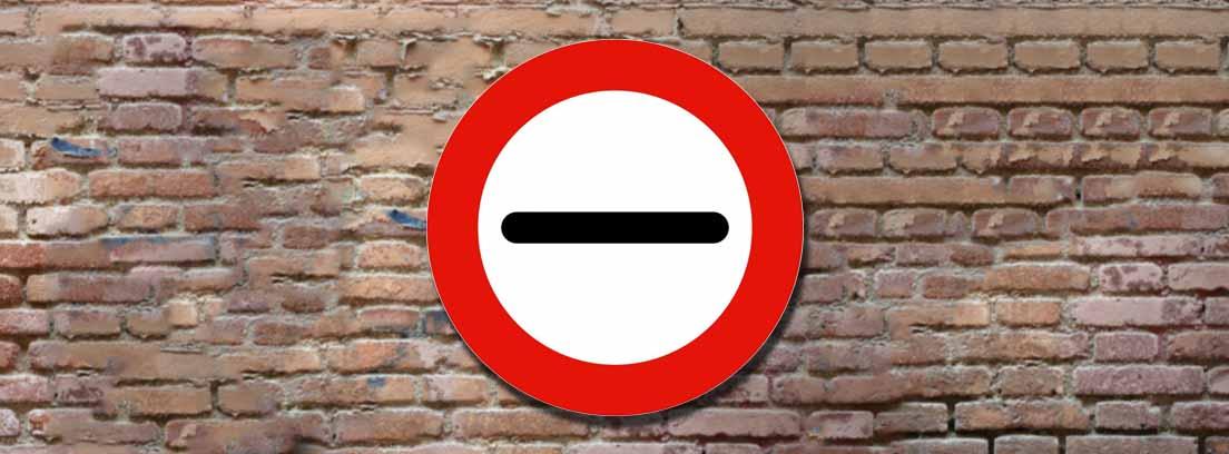 Señal de tráfico R-200 de prohibido parar sin detenerse