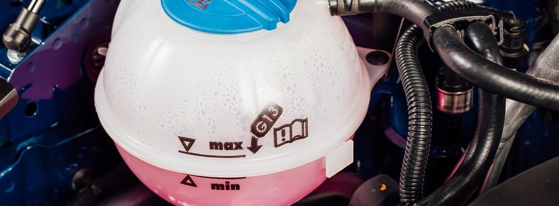 Nivel del refrigerante de un coche